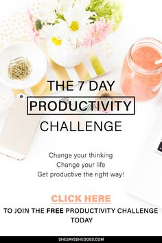 Join the productivity challenge that starts Monday 5th June 2016. If you are struggling to be productive in life or business, the this challenge will make you assess how you do things as a person and not only an entrepreneur. If you want to up your business performance, there are several areas you need to work on. Find out more by joining my productivity challenge.