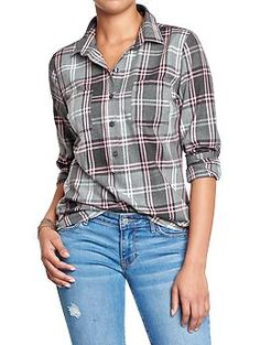Women's Flannel Popovers | Old Navy