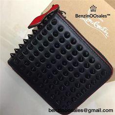 86971e4fd80dd4 Christian Louboutin Panettone Black Spike Leather Wallet -yeezy boostv2-ua -hypebeast-designer