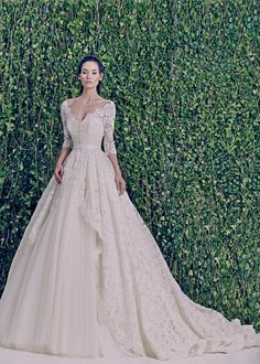 """Luxurious Zuhair Murad Wedding Dresses 2014 - add more sparkle, more off the shoulder and perfect """"Grace Kelly"""" modernized."""