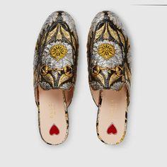 Gucci Princetown floral jacquard slipper Detail 3