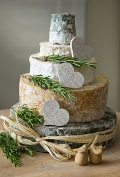 An alternative big day dessert consisting of four tiers of delicious cheese from West Country Cheese Co.