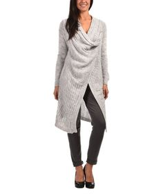 Loving this Gray Wool-Blend Wrap Duster - Women on #zulily! #zulilyfinds