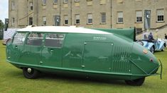 The aerodynamically efficient Dymaxion car could transport 11 passengers and returned 36 m...