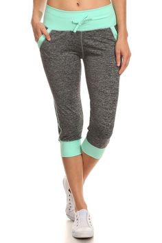 Everlasting Color Bloque Peppered Leggings w/ Pockets