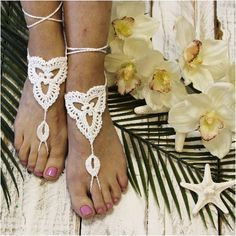 SUMMER barefoot sandals - bohemian wedding foot jewelry - summer lovin for your feet