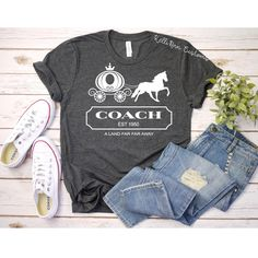 Excited to share this item from my shop: Coach Inspired Shirt - Cinderella Inspired Shirt - Womens Disney Shirt - Cinderella Carriage Shirt - Disney Family Vacation - Magic Kingdom Disney Tank Tops, Disney Tees, Disney Shirts For Family, Disney Shirts Women, Cute Disney Shirts, Disney Christmas Shirts, Disney Apparel, Disney Vacation Shirts, Matching Disney Shirts