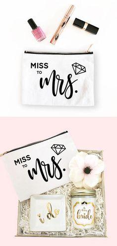 Etsy Mrs Makeup Bag Miss to Mrs Bag Bride Make Up Bag Future Mrs Bag Bride Bag Bride Gift Bride to Be on Etsy (affiliate link)
