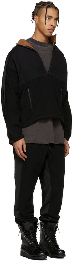 YEEZY Season 3 - Black Nylon & Polar Fleece Jacket