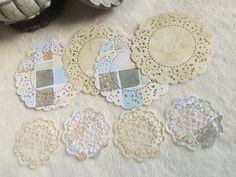 Paper Doilies...8 Piece Set of Very Cute and by JudeAlyssaMarkus