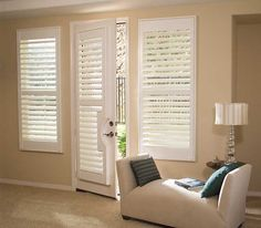 Window Treatments for French Doors | Horizontal Mini Blinds