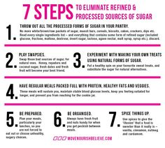 7 steps to eliminate sugar