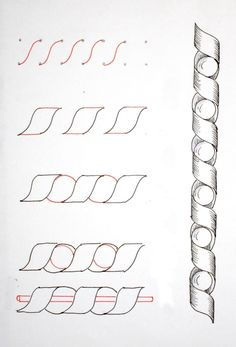 Dibujo Espirales Tangles