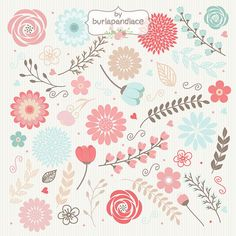 Rustic wedding clipart, teal, coral red, shabby chic clipart, Hand Drawn clipart,wedding clipart, flower clipart, wood digital paper