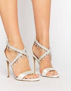 1f42d63d097a7 ASOS HATTIE Embellished Bridal Heeled Sandals Heeled Sandals