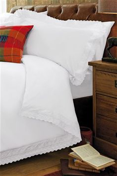 Buy White Broderie Anglaise Bed Set from the Next UK online shop