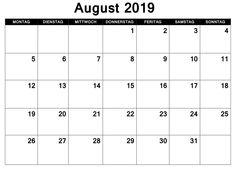 Kalender August 2019 PDF Kalender August, Pdf, Words, Thursday, Horse