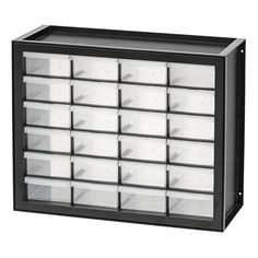 Whether you've got nuts and bolts or beads and buttons, the 24 drawer cabinet will help keep you organized. Craft Tables With Storage, Craft Storage, Storage Ideas, Lego Storage, Storage Solutions, Linen Closet Organization, Craft Organization, Organizing, Garage Organisation