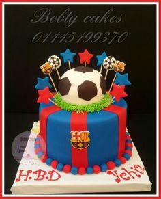 Soccer Barcelona cake