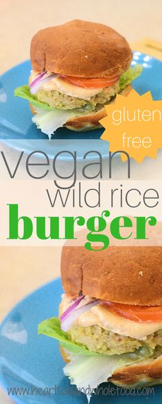 Wild Rice Burger Recipe: Vegan, Dairy Free, Gluten Free - The Fun Sized Life Cheap Meals To Cook, Cheap Vegetarian Meals, Cheap Family Meals, Vegetarian Recipes, Vegan Meals, Wild Rice Burger Recipe, Burger Recipes, Easy Healthy Recipes, Whole Food Recipes