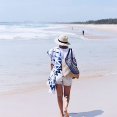 Seaside escapes with the Majorelle Roundie and Majorelle Jute Bag. Shop now at thebeachpeople.com.au/shop #thebeachpeople
