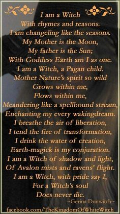 Magick Wicca Witch Witchcraft:  I Am a #Witch.