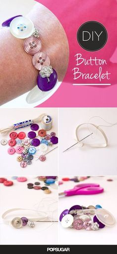 Buttom bracelets that are so easy to make! Perfect for a niece, daughter, or any other little girl in your life!