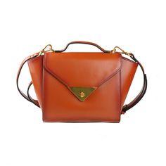 Brown Leather Cross-Body Bag Handbag via Women's Fashion Bags. Click on the image to see more!