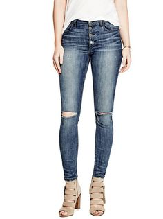 1981 Button-Front Skinny Jeans | shop.GUESS.com