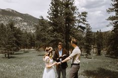 Rocky Mountain wedding, what a beautiful spot to get married!
