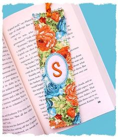 Shabby Monogrammed Bookmark (in the hoop)