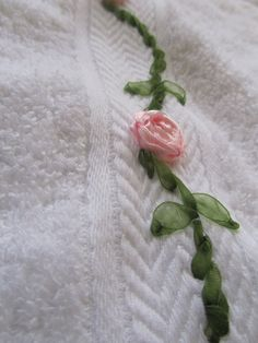 Rose au ruban
