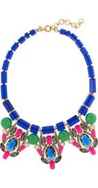 J.CrewThree Station crystal and bead necklace