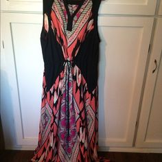 Fits 2X to 4X gorgeous summer dress Drawstring waist, floor length like new all occasion dress Dresses Maxi