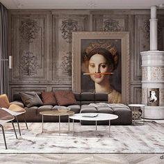 by Diff Studio Interior Design Living Room, Living Room Designs, Living Room Decor, Interior Decorating, Interior Design Inspiration, Room Inspiration, Luxury Interior, Interior Architecture, Casa Milano