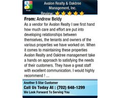 As a vendor for Avalon Realty I see first hand how much care and effort are put into...