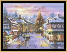 Christmas Eve Cross Stitch Pattern