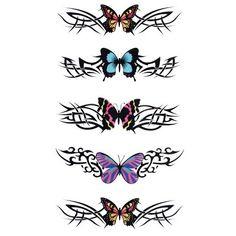 Beautiful Colorful Butterfly Pattern Waterproof Tattoo StickerTemporary Tattoos | RoseGal.com