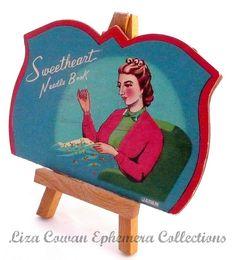sweetheart needle book. liza cowan ephemera collections, via Flickr.