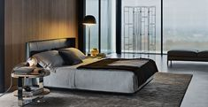 A BEDROOM FIT FOR BOND - Create a dramatic look with luxurious leather