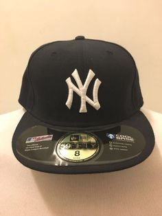 90008065f0f15 New York Yankees Fitted Hat 8 New Era Cool Base 5950 With Stickers New Old  Stock