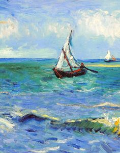 Vincent Van Gogh, detail of Seascape near Les Saintes-Maries-de-la-Mer.