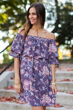 Promise Keeper Purple Off The Shoulder Dress at reddressboutique.com size M