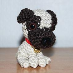 """""""Crocheted amigurumi pug"""" #Amigurumi  #crochet"""