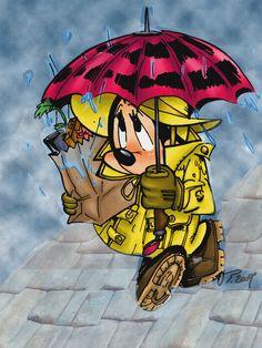 Minnie under the rain by *VPdessin on deviantART