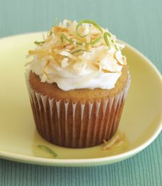 Lime cupcakes from Elana Amsterdam, made with almond and coconut flour.