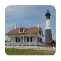 Tybee Island Lighthouse Coaster