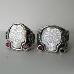 Day of the Dead skull rings