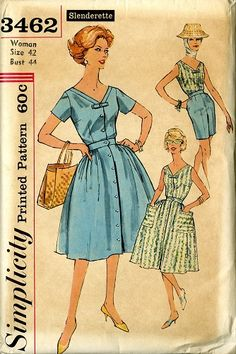 c95bb0a7f2 Simplicity 3462, lovely summer dress with full skirt. Find this and other vintage  sewing