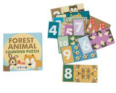 Puzzel Forest animal counting puzzle - Sebra | ref. U-237735 | Paradisio